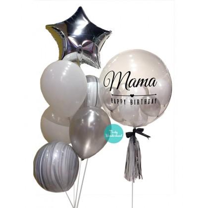 Silver Bubble Balloon (Mama)
