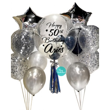 Silver Bubble Balloon (Aries)