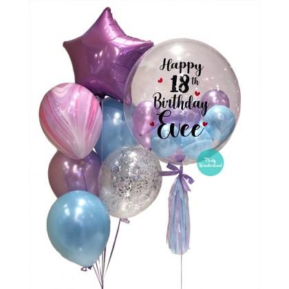 Purple Bubble Balloon (Evee)