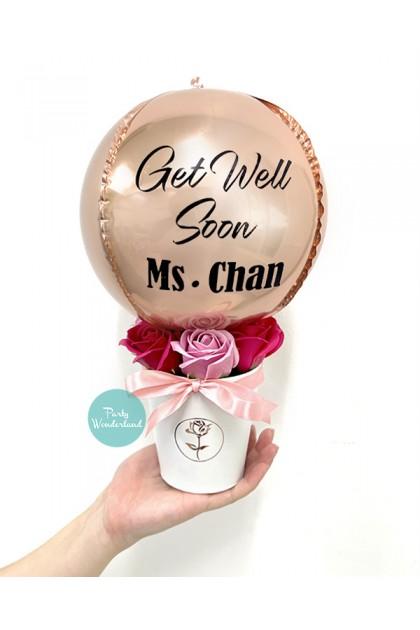 Mini Rose Gold Orbz Balloon Bucket