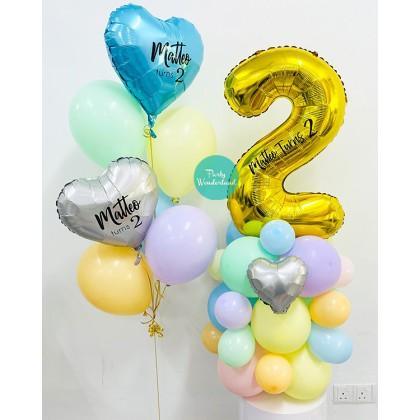 Baby Second Birthday Balloon Sculpture