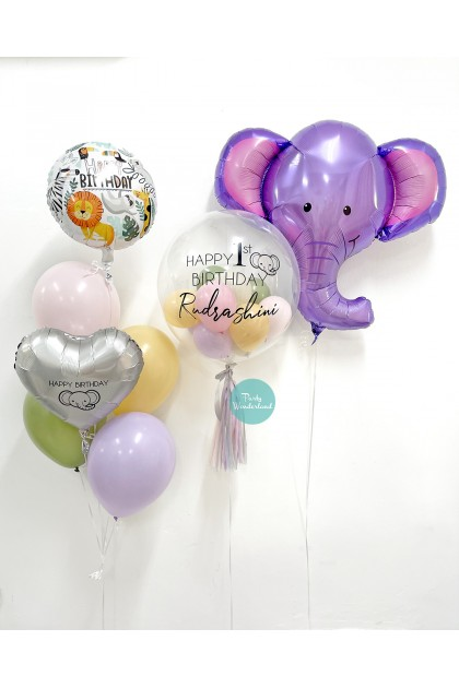 Cute Elephant Theme Balloon