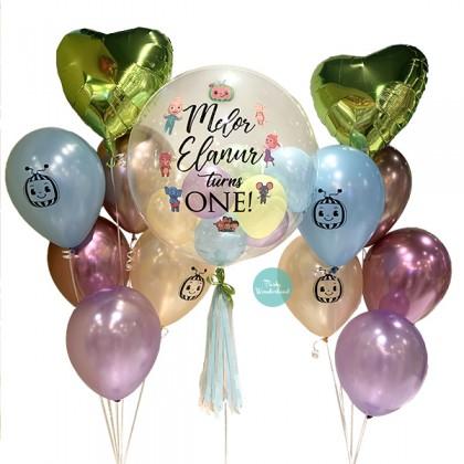 Cocomelon Theme Bubble Balloon