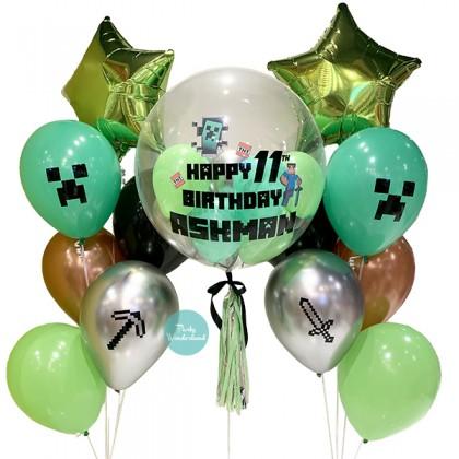 Minecraft Theme Bubble Balloon