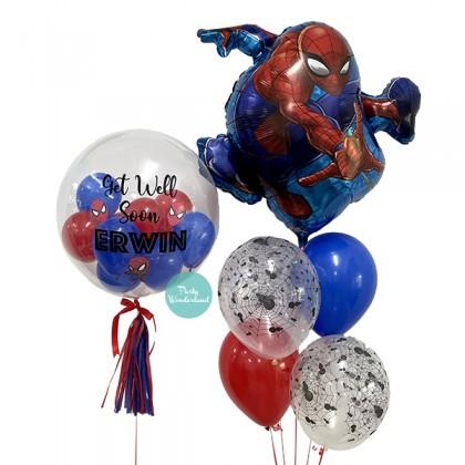 Spiderman Theme Bubble Balloon Bundles