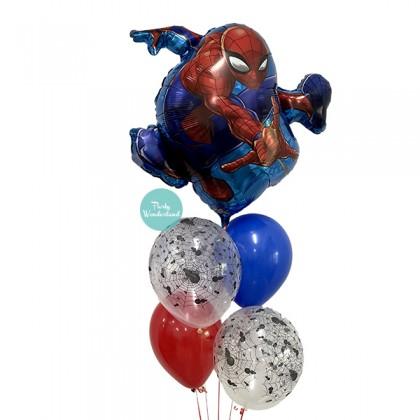 Spiderman Theme Balloon Bunch