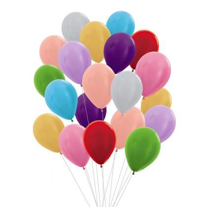 "12"" Round Metallic Colour Helium Latex Balloon"