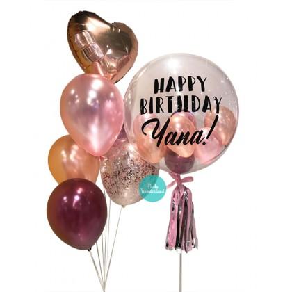 Rose Gold Bubble Balloon (Yana)