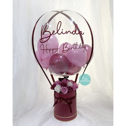 Massive Maroon & Dark Pink Balloon Bucket