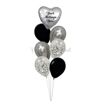 Personalized Message Silver & Black Foil Bundle