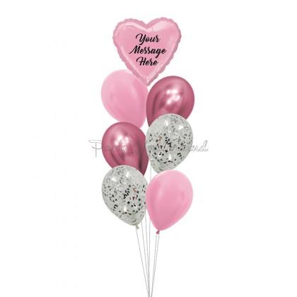 Personalized Message Pink Foil Bundle
