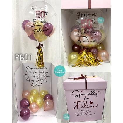 Surprise Pink Box - Burgundy, Rose Gold & Gold Colour