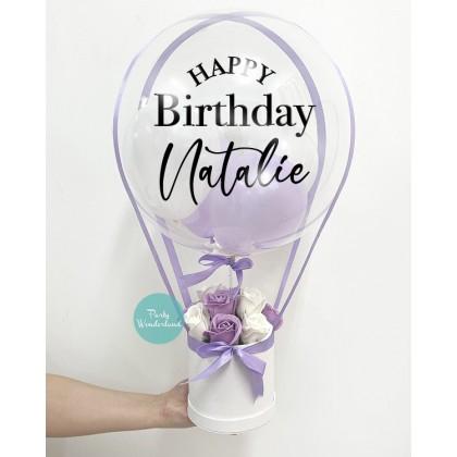 Petite Purple & White Balloon Bucket