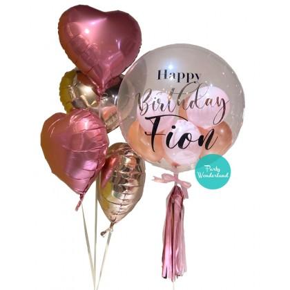 Rose Gold Bubble Balloon (Fion)