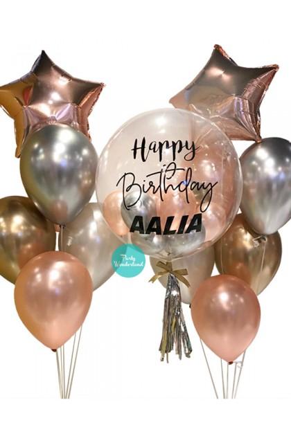 Rose Gold Bubble Balloon (Aalia)