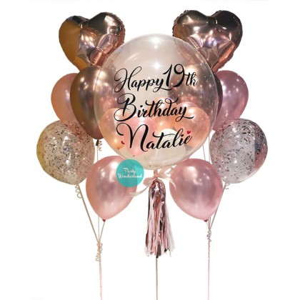 Rose Gold Bubble Balloon (Natalie)