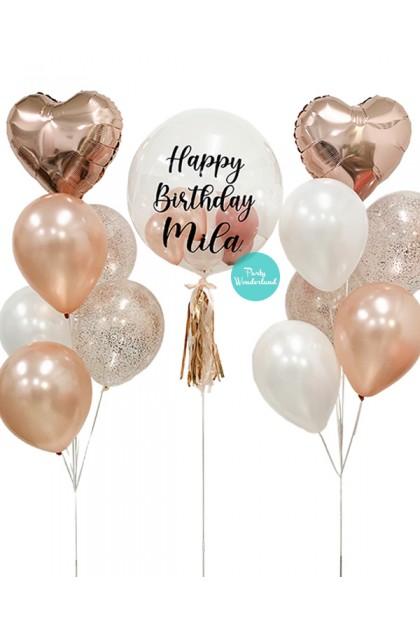 Rose Gold Bubble Balloon (Mila)