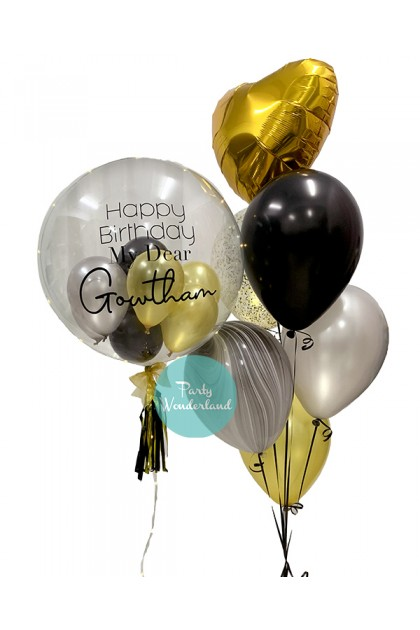 Gold Bubble Balloon (Gowtham)