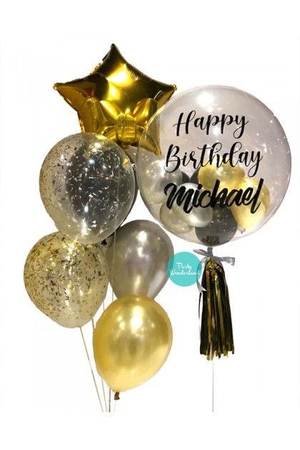 Gold Bubble Balloon (Michael)
