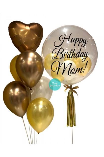 Gold Bubble Balloon (Mom)