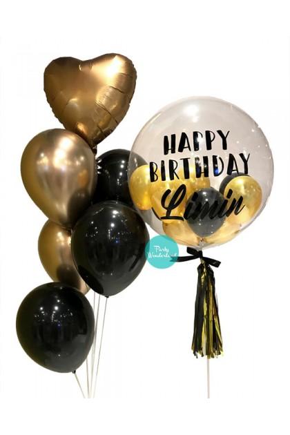 Gold Bubble Balloon (Limin)