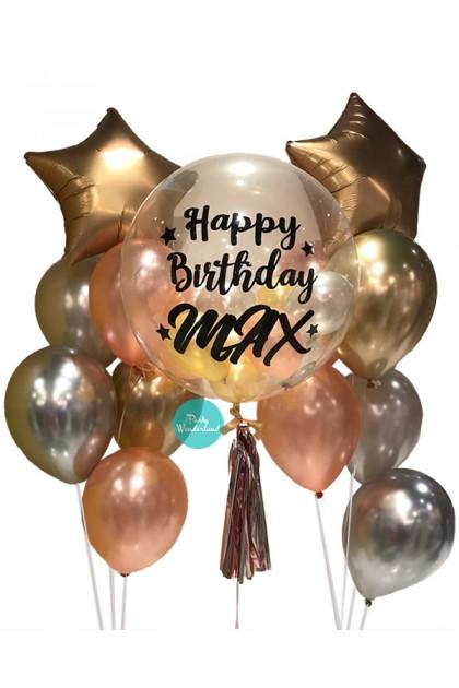 Gold Bubble Balloon (Max)