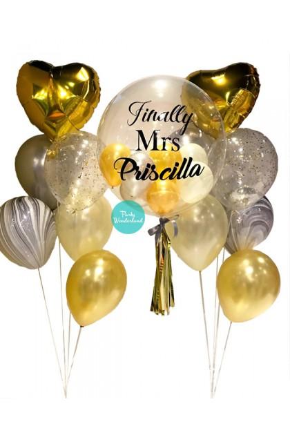 Gold Bubble Balloon (Priscilla)