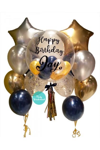 Gold Bubble Balloon (Jay)