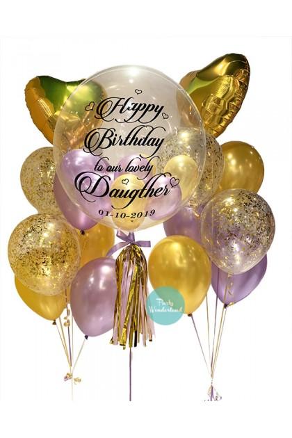 Gold Bubble Balloon (Daughter)