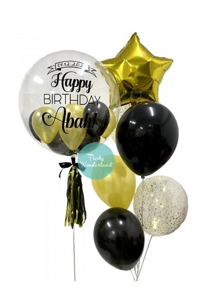 Gold Bubble Balloon (Abah)